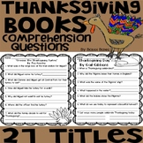 Thanksgiving Books Comprehension Questions