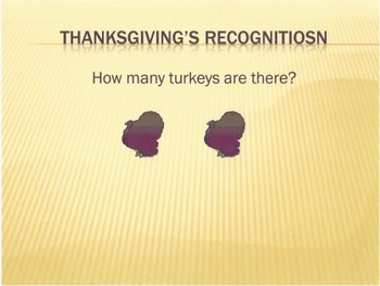 Thanksgiving's Recognitions: Counting