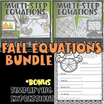 Thanksgivng/Fall Algebra two-step equations