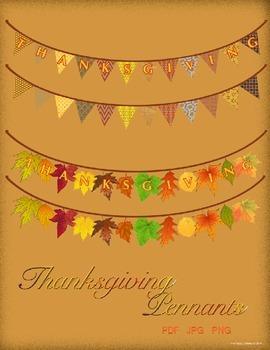 Thanksgivng Pennants Pack - Pennant Borders
