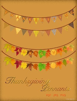 Thanksgivng Pennants Pack - Pennant Borders
