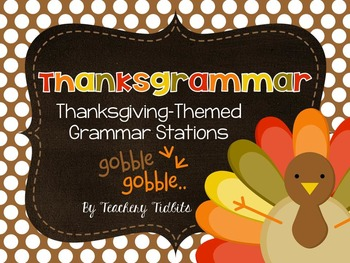 Thanksgrammar: Thanksgiving-Themed Grammar Stations
