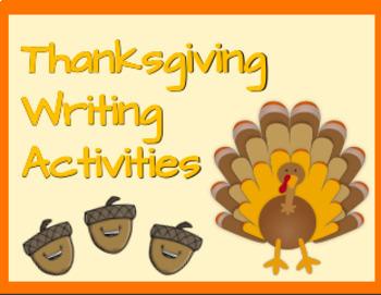 Thanksgving Writing Activites/ Día de Acción de Gracias- Actividades de escritu