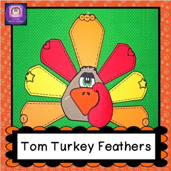 Thanksgiving Craft, Tom Turkey Feathers