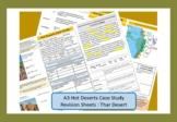 Thar Desert, A3 Double Sided Revision Sheet.