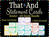 That/And Statement Cards Complete Bundle