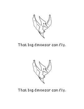 That Big Dino Emergent Reader