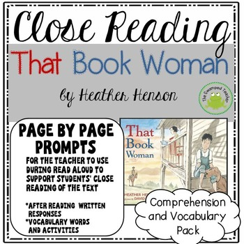 Engage NY Module 1 - That Book Woman - Page by Page Prompt