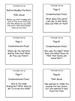 That Book Woman Interactive Read Aloud Sticky Note Questions