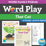 That Cat - At Word Family Poem of the Week - Short Vowel Fluency + Digital