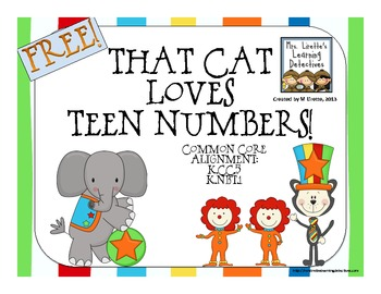 That Cat Loves Teen Numbers! {FREE}