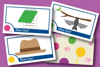 That Cat! Short A Word Families Phonics Game - Words Their Way Game