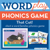 That Cat! Short A Word Families Phonics Game