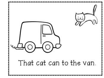 """An emergent reader for the """"an"""" blend- That Cat ran"""