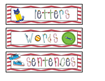 That Cool Cat - Is it a Letter, Word or Sentence Sort (with response sheet)