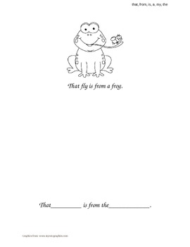 """""""That, From, Is, A, My, The"""" Sight Word Book"""