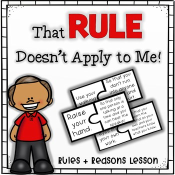 That Rule Doesn't Apply to Me! Companion - #counselorsback4school