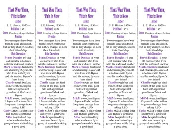 That Was Then, This Is Now edition of Bookmarks Plus--Handy Reading Aid!