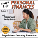 Personal Finance Unit: That's Life | Project-Based Learning Simulation