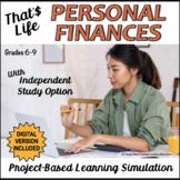 Personal Finance Unit - PBL Simulation - Print and Google™ Drive