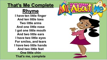 That's Me Rhyme Poster