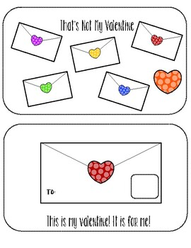 That's Not My Valentine Interactive Printable Book