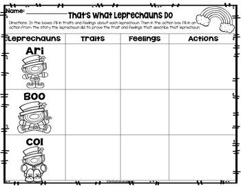 Leprechaun Reading Activity