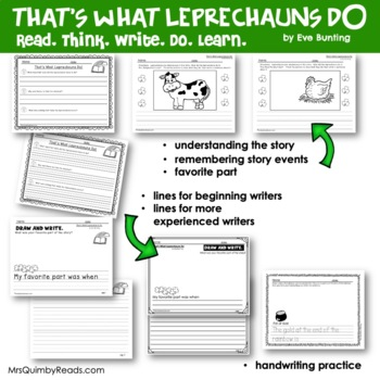 That's What Leprechauns Do | Eve Bunting | Book Companion | Reader Response