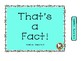 That's a FACT!  File Folder Activity... ADDITION... Sums 0-6