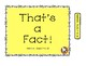 That's a FACT!  File Folder Activity....ADDITION... Sums 7-10
