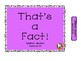 That's a FACT!...File Folder Activity... DOUBLES ..ADDITION... Sums to 20