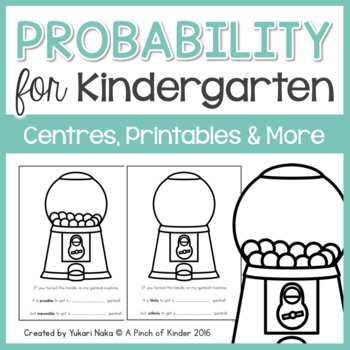 Probability for Kindergarten: Centres, Printables & More
