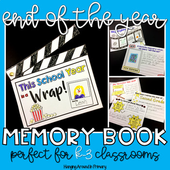 That's a Wrap! Movie themed End of the Year Memory Book