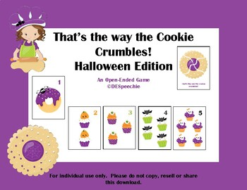 That's the Way the Cookie Crumbles - Halloween Game