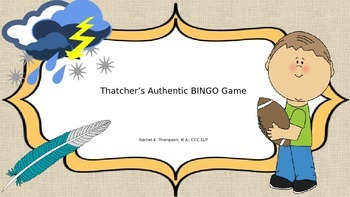 "Thatcher's ""TH"" BINGO Game"