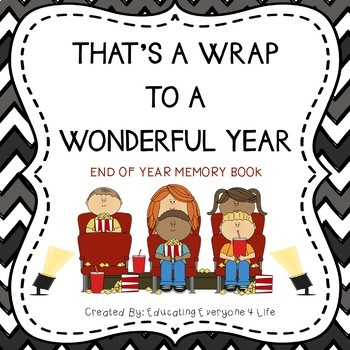 Free End of Year Activities End of Year Memory Book