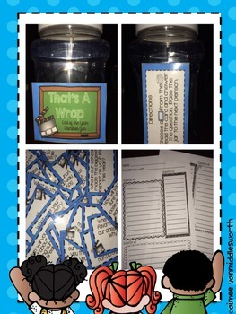That's A Wrap End of the School Year Question Jar