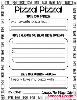 That's Amore! {Opinion Writing with Pizza}