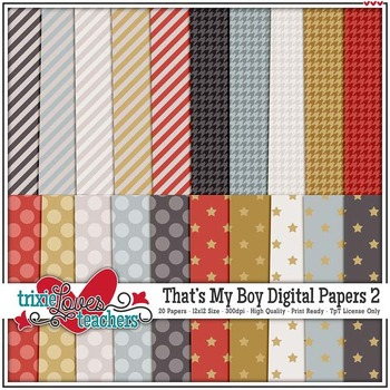 That's My Boy Digital Papers 2