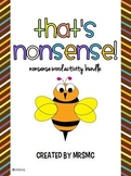 That's Nonsense!-Nonsense Word Activity Bundle