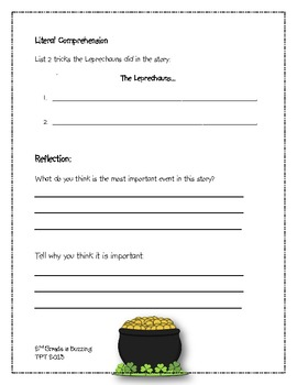 That's What Leprechauns Do!  Comprehension Guide