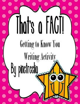 That's a FACT! {Getting to Know You Writing Activity}