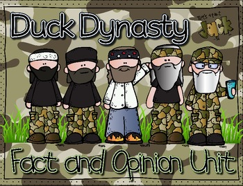 That's a Fact, JACK! Duck Dynasty Theme Fact and Opinion Unit