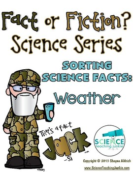 That's a Fact, Jack!  Fact or Fiction Science Sorting: Weather