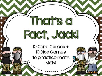 That's a Fact, Jack! Duck Dynasty Math Skills Practice {Common Core Aligned}