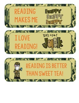 That's a Fact! Reading Bookmarks with Ducky Theme!