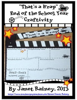 "End of 2016-2017 School Year ""That's a Wrap"" Craftivity Freebie"