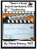 "End of 2017-2018 School Year ""That's a Wrap"" Craftivity Freebie"