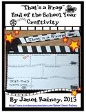 """End of 2018-2019 School Year """"That's a Wrap"""" Craftivity Freebie"""
