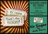 That's the Ticket! No Sugar Set Design Exercise (HSC Australian Drama & Theatre)